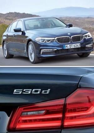BMW의 530d는 중형 세단을 의미하는 5와 배기량 3000㏄, 디젤(d)이 합쳐진 것이다.