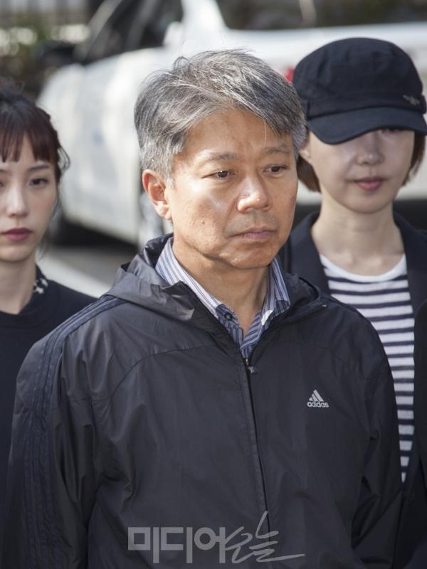 ▲ 8월22일 MBC경영진을 규탄하는 아나운서들의 기자회견에 참석한 변창립 아나운서. ⓒ이치열 기자