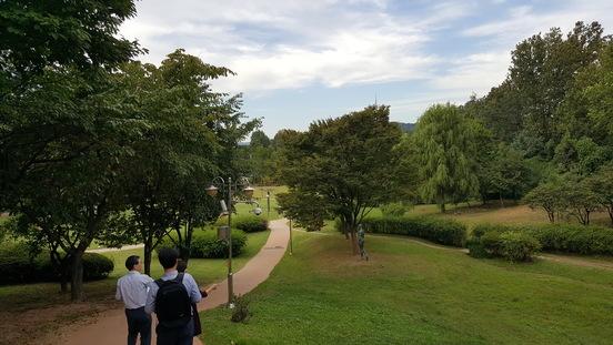 정부가 국립한국문학관 신축을 추진 중인 서울 용산 가족공원 부근의 모습. 서울시는 어떤 건물 신축도 반대한다는 입장이다.