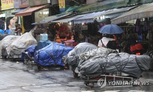 노점상 [연합뉴스 자료사진]