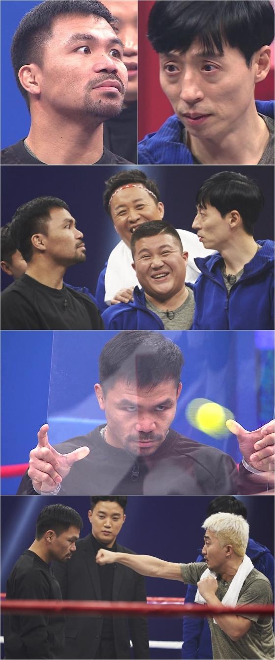 """'무한도전' 파퀴아오, 유재석과 눈싸움 대결 """"기가 세다"""""""