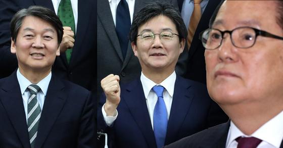 """박지원 전 대표가 22일 바른정당과의 통합을 추진하고 있는 안철수 대표에 대해 '안 대표, 또 당했네요""""라는 글을 자신의 페이스북에 올렸다. [중앙포토]"""