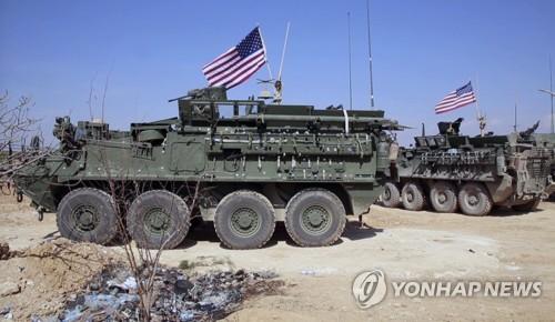 시리아 북부 쿠르드지역에 배치된 미군 [AP=연합뉴스]