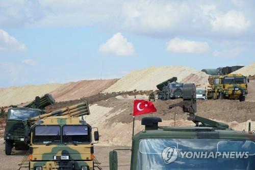 시리아 북서부에 배치된 터키군 [EPA=연합뉴스]