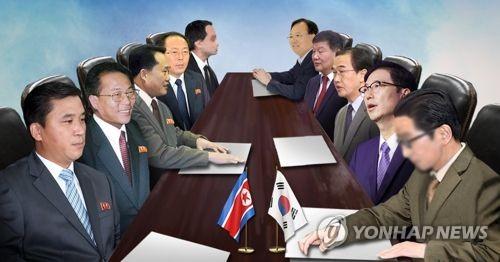 남북 고위급 회담 (PG)  [제작 조혜인] 일러스트, 합성사진