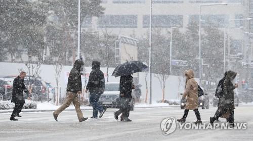 충청·전라는 '대설특보', 중부내륙은 '한파특보' #연합뉴스