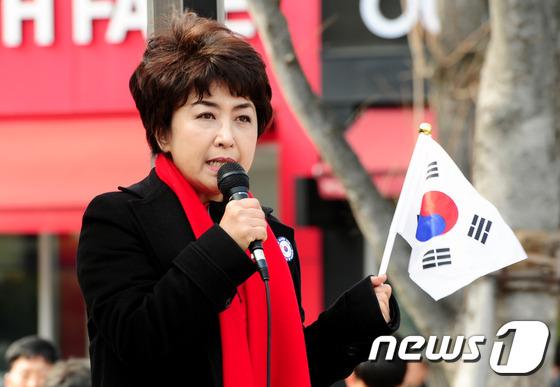 정미홍 전 KBS 아나운서. 2017.3.8/뉴스1 © News1 문요한 기자