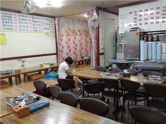 손님들의 발길이 끊긴 식당. 사진=아시아경제 DB
