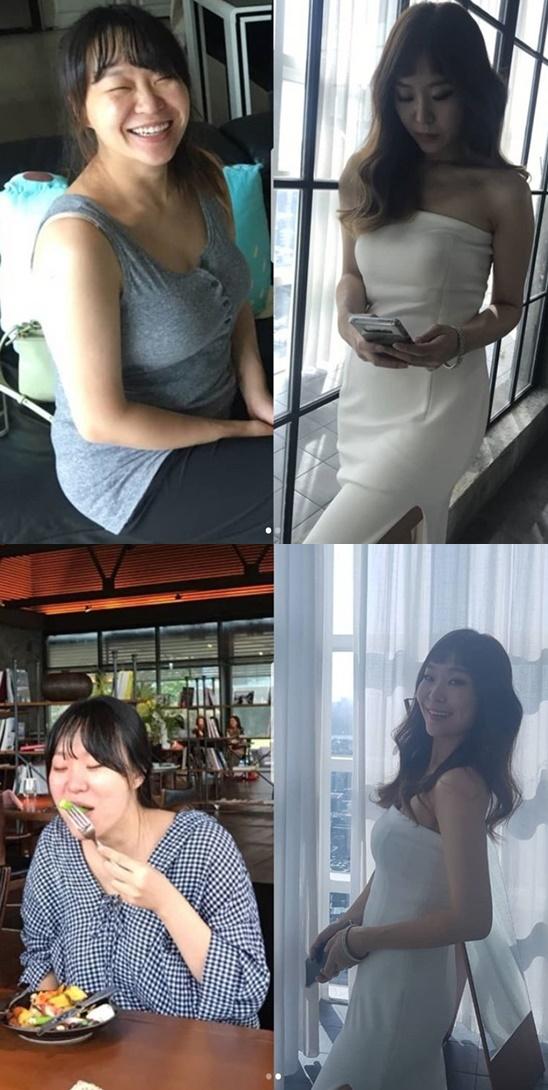[★SNS]68→56kg 정주리, 다이어트 성공 전후 사진 공개