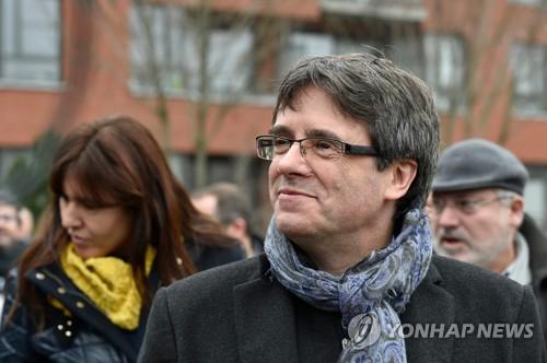벨기에 브뤼셀에 체류 중인 푸지데몬 전 카탈루냐 수반 (브뤼셀=AFP 연합뉴스)