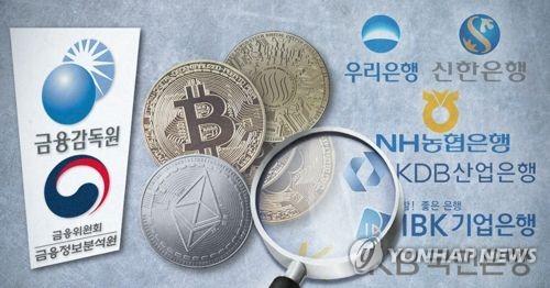 FIUㆍ금감원, 내일부터 6개 은행 가상화폐 계좌 특별검사 (PG) [제작 최자윤] 일러스트