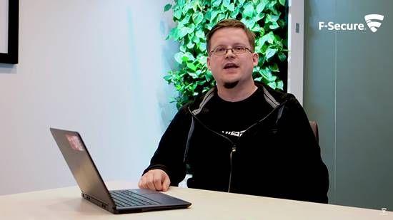 핀란드 보안소프트웨어 업체 F시큐어의 수석 보안컨설턴트 해리 신토넨. [사진=F시큐어 유튜브 영상 캡처]