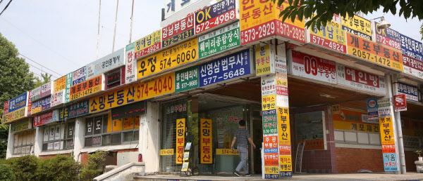 서울 개포주공1단지 아파트 주변에 몰려있는 부동산 중개업소. /조선DB