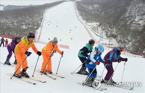 북한 마식령 스키장