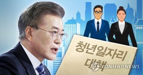 문 대통령, 청년일자리 대책 추진 (PG) [제작 최자윤, 조혜인] 일러스트, 사진합성