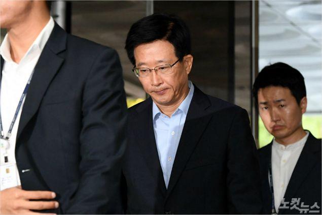 이명박 정부 시절 국가정보원 '댓글 부대'를 운영한 혐의를 받는 민병주 전 국정원 심리전단장 (사진=박종민기자)
