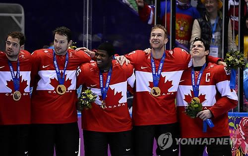 소치 동계올림픽에서 우승한 캐나다 남자 아이스하키 [EPA=연합뉴스]