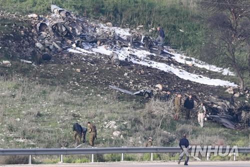 이스라엘 F-16기, 시리아서 작전 중 피격…이스라엘 북부 추락 [신화=연합뉴스]