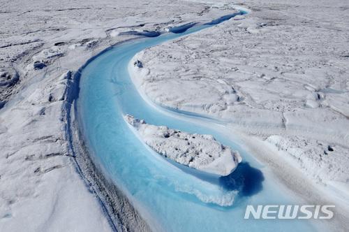 【서울=뉴시스】 그린란드의 빙하가 녹고 있는 모습. <출처: 구글> 2017.12.01.