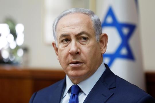 """베냐민 네타냐후 이스라엘 총리는 2018년 2월 13일(현지 시각) 경찰의 기소 의견에도 불구하고 """"총리직을 계속 수행하겠다""""고 밝혔다./블룸버그"""