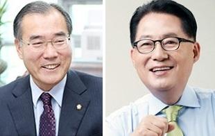 이개호(왼쪽), 박지원