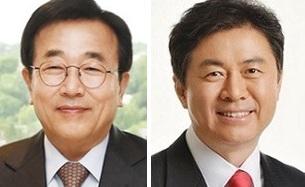 서병수(왼쪽), 김영춘.
