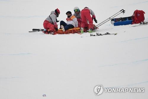 [올림픽] 日 17세 선수, 하프파이프 경기 도중 추락해 병원행 #연합뉴스