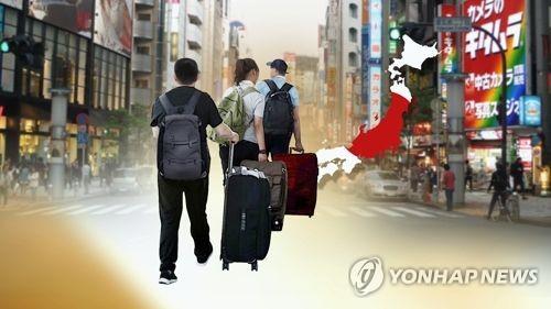 한국인도 유커도 일본 관광(CG)