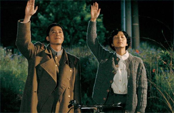 영화 '청연'의 한 장면. 이 영화에 출연했던 김주혁과 장진영, 모두 하늘로 떠났다.