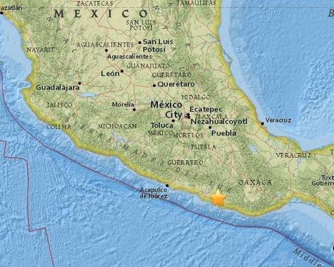 멕시코 지진 발생 지역 /USGS