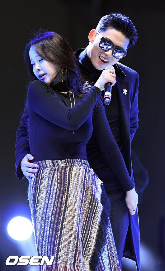 [사진]백지영-옥택연,'다시 만난 섹시 커플'