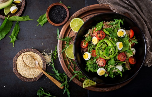 달걀과 유제품 섭취가 가능한 락토 오보 채식