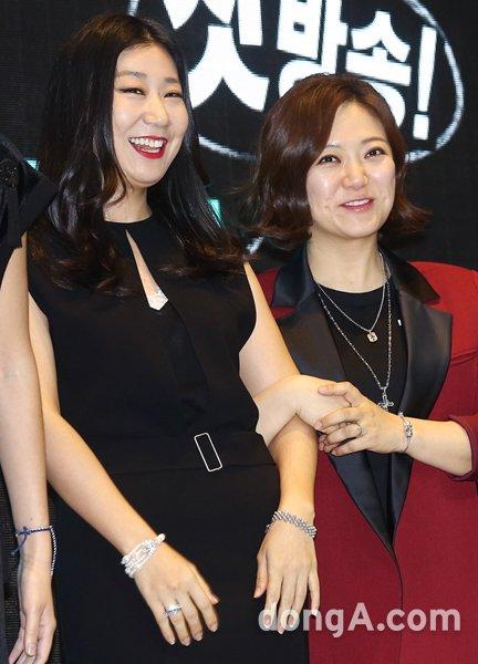 배우 라미란(왼쪽)과 개그우먼 김숙. 동아닷컴DB