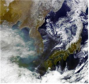 천리안 1호가 2018년 2월 찍은 한반도. -사진 제공 과학기술정보통신부-한국항공우주연구원