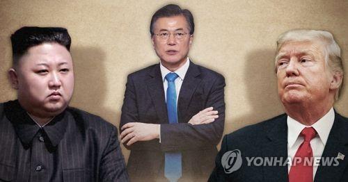 북미 '대화조건' 샅바싸움 돌입…정부 '중재외교' 본격화 (PG) [제작 최자윤] 사진합성