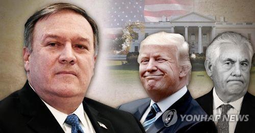 트럼프, 새 국무장관에 마이크 폼페이오 내정 (PG) [제작 최자윤] 사진합성