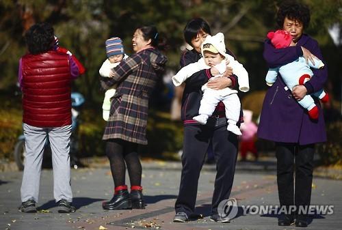 중국, 모든 부부 2자녀 허용 2015.10.29 [신화=연합뉴스 자료사진]