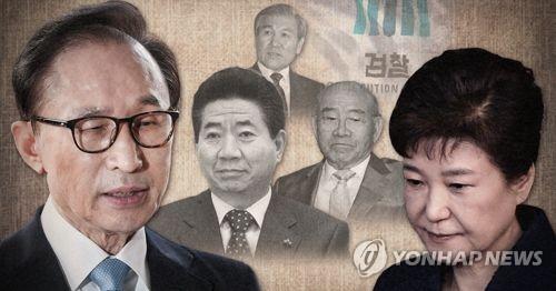 검찰 조사 역대 전직 대통령 (PG) [제작 최자윤] 사진합성
