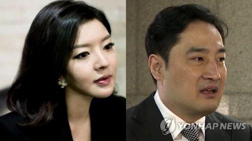 유명 블로거 '도도맘' 김미나씨(왼쪽)와 강용석 변호사 [연합뉴스TV 제공]
