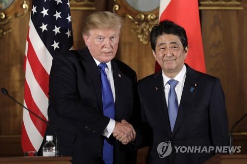 트럼프 미국 대통령과 아베 일본 총리 [EPA=연합뉴스 자료사진]