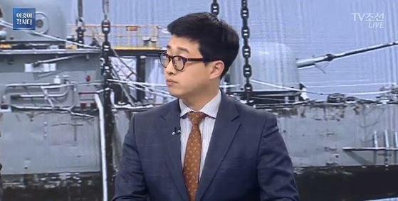 29일 오후 TV조선 방송에 출연한 천안함 사건 생존자 전준영씨.[사진 TV조선 캡처]