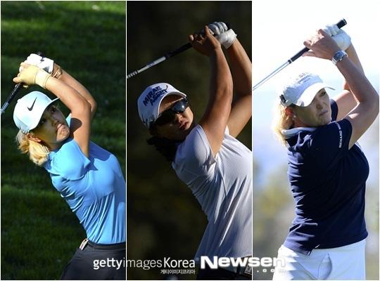 왼쪽부터 미셸 위, 김세영, 크리스티 커