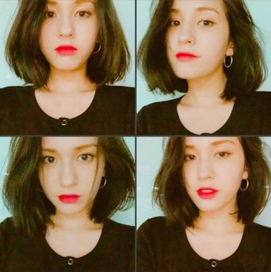 전소미 단발머리 헤어변신 아이오아이