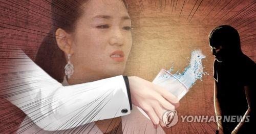 조현민 대한항공 전무, '물뿌리기' 갑질 논란 (PG) [제작 정연주] 사진합성, 일러스트