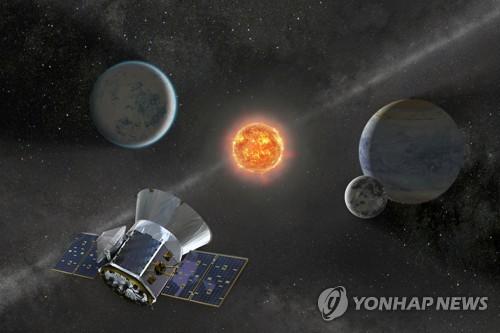 '테스'의 활동을 그린 NASA의 일러스트 [AFP=연합뉴스]