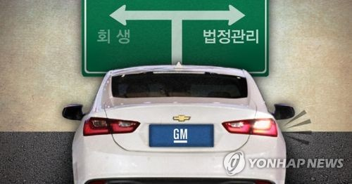 한국GM 법정관리 초읽기(PG) [제작 이태호] 사진합성, 일러스트