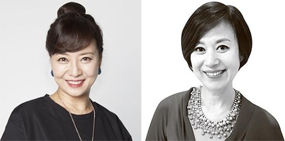 허수경(左), 박미선(右)