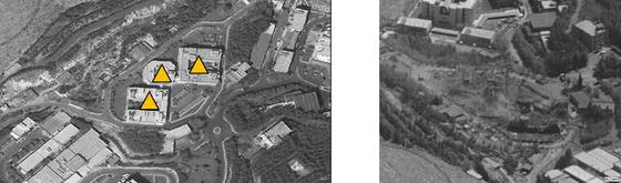 14일 (현지시간) 미국과 영국, 프랑스가 화학무기 개발, 저장시설로 추정한 다마스쿠스 북부 바르제 과학·연구 시설 지역의 공습 전후의 위성사진 모습이 보인다.  © AFP=뉴스1  <저작권자 © 뉴스1코리아, 무단전재 및 재배포 금지>