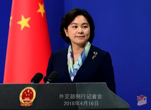 화춘잉 중국 외교부 대변인 [중국 외교부]