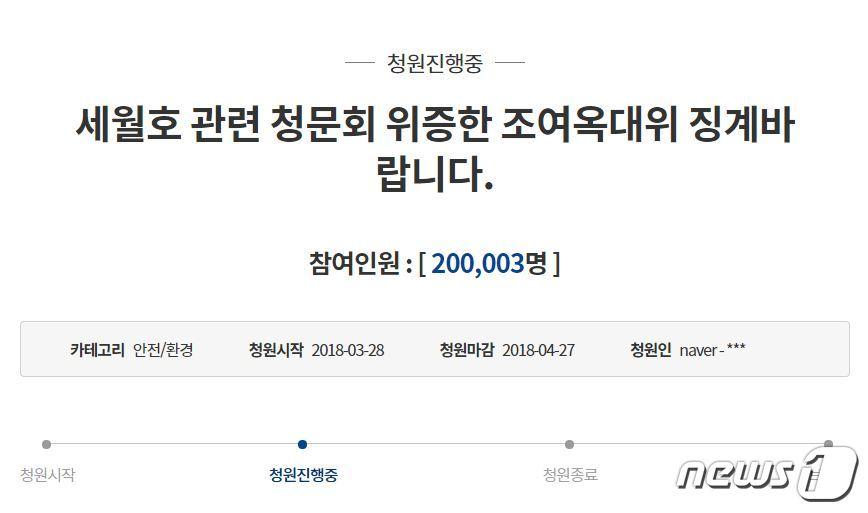 조여옥 대위 징계해달라..靑국민청원 20만명 동의종합